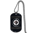 Winnipeg Jets Tag Necklace  - Expertly crafted Winnipeg Jets tag necklaces featuring fine detailing and a hand enameled finish with chrome accents. 26 inch ball chain.