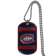 Montreal Canadiens Tag Necklace - Expertly crafted Montreal Canadiens tag necklaces featuring fine detailing and a hand enameled finish with chrome accents. 26 inch ball chain.