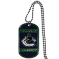 Vancouver Canucks Tag Necklace  - Expertly crafted Vancouver Canucks tag necklaces featuring fine detailing and a hand enameled finish with chrome accents. 26 inch ball chain.