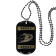 Anaheim Ducks Tag Necklace - Expertly crafted Anaheim Ducks tag necklaces featuring fine detailing and a hand enameled finish with chrome accents. 26 inch chain. Thank you for visiting CrazedOutSports