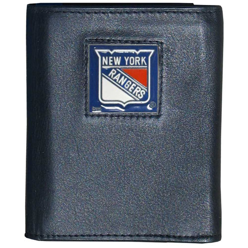 NHL Trifold Wallet  -  New York Rangers - NHL New York Rangers Tri-fold wallet is made of high quality fine grain leather with New York Rangers logo sculpted and enameled with fine detail on the front panel. Thank you for visiting CrazedOutSports
