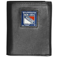 New York Rangers Deluxe Leather Tri-fold Wallet - Officially licensed NHL New York Rangers fine grain leather wallet features numerous card slots, windowed ID slots, removable picture slots and large billfold pockets. This quality New York Rangers wallet has an enameled New York Rangers emblem on the front of the wallet. The New York Rangers wallet is packaged in a gift box. Thank you for visiting CrazedOutSports