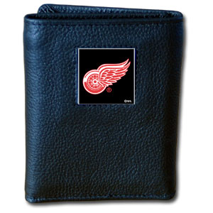 NHL Trifold Wallet - Detroit Red Wings - NHL Detroit Red Wings Tri-fold wallet is made of high quality fine grain leather with Detroit Red Wings logo sculpted and enameled with fine detail on the front panel. Thank you for visiting CrazedOutSports