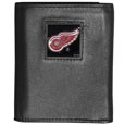 Detroit Red Wings Deluxe Leather Tri-fold Wallet - Officially licensed Detroit Red Wings fine grain leather wallet features numerous card slots, windowed ID slots, removable picture slots and large billfold pockets. This quality Detroit Red Wings wallet has an enameled Detroit Red Wings emblem on the front of the wallet. The Detroit Red Wings wallet is packaged in a gift box. Thank you for visiting CrazedOutSports