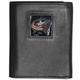 Columbus Blue Jackets Deluxe Leather Tri-fold Wallet - Officially licensed Columbus Blue Jackets fine grain leather wallet features numerous card slots, windowed ID slots, removable picture slots and large billfold pockets. This quality Columbus Blue Jackets wallet has an enameled Columbus Blue Jackets emblem on the front of the wallet. The Columbus Blue Jackets wallet is packaged in a gift box. Thank you for visiting CrazedOutSports
