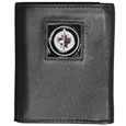 Winnipeg Jets  Deluxe Leather Tri-fold Wallet - Officially licensed NHL  Winnipeg Jets fine grain leather wallet features numerous card slots, windowed ID slots, removable picture slots and large billfold pockets. This quality Winnipeg Jets wallet has an enameled Winnipeg Jets  emblem on the front of the wallet. The Winnipeg Jets wallet is packaged in an NHL  gift box.
