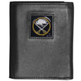 Buffalo Sabres Deluxe Leather Tri-fold Wallet - Officially licensed Buffalo Sabres fine grain leather wallet features numerous card slots, windowed ID slots, removable picture slots and large billfold pockets. This quality Buffalo Sabres wallet has an enameled Buffalo Sabres emblem on the front of the wallet. The Buffalo Sabres wallet is packaged in a gift box. Thank you for visiting CrazedOutSports