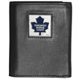 Toronto Maple Leafs Deluxe Leather Tri-fold Wallet - Officially licensed Toronto Maple Leafs fine grain leather wallet features numerous card slots, windowed ID slots, removable picture slots and large billfold pockets. This quality Toronto Maple Leafs wallet has an enameled Toronto Maple Leafs emblem on the front of the wallet. The Toronto Maple Leafs wallet is packaged in a gift box