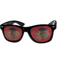 Chicago Blackhawks Game Day Shades - Officially licensed NHL Chicago Blackhawks game day shades are the perfect accessory for the devoted Chicago Blackhawks fan! The Chicago Blackhawks game day shades have durable polycarbonate frames with flex hinges for comfort and damage resistance. The lenses feature brightly colored Chicago Blackhawks clings that are perforated for visibility. Thank you for visiting CrazedOutSports