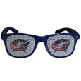 Columbus Blue Jackets Game Day Shades - Officially licensed NHL Columbus Blue Jackets game day shades are the perfect accessory for the devoted Columbus Blue Jackets fan! The Columbus Blue Jackets game day shades have durable polycarbonate frames with flex hinges for comfort and damage resistance. The lenses feature brightly colored Columbus Blue Jackets clings that are perforated for visibility. Thank you for visiting CrazedOutSports