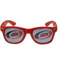 Carolina Hurricanes Game Day Shades - Officially licensed NHL Carolina Hurricanes game day shades are the perfect accessory for the devoted Carolina Hurricanes fan! The Carolina Hurricanes game day shades have durable polycarbonate frames with flex hinges for comfort and damage resistance. The lenses feature brightly colored Carolina Hurricanes clings that are perforated for visibility.