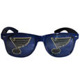St. Louis Blues Game Day Shades - Officially licensed St. Louis Blues game day shades are the perfect accessory for the devoted St. Louis Blues fan! The St. Louis Blues game day shades have durable polycarbonate frames with flex hinges for comfort and damage resistance. The lenses feature brightly colored St. Louis Blues game day shades clings that are perforated for visibility.