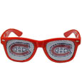 Montreal Canadiens Game Day Shades - Officially licensed NHL Montreal Canadiens game day shades are the perfect accessory for the devoted Montreal Canadiens fan! The Montreal Canadiens game day shades have durable polycarbonate frames with flex hinges for comfort and damage resistance. The lenses feature brightly colored Montreal Canadiens clings that are perforated for visibility.