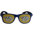 Nashville Predators Game Day Shades - Officially licensed NHL Nashville Predators game day shades are the perfect accessory for the devoted Nashville Predators fan! The Nashville Predators game day shades have durable polycarbonate frames with flex hinges for comfort and damage resistance. The lenses feature brightly colored Nashville Predators clings that are perforated for visibility.