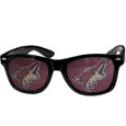 Arizona Coyotes Game Day Shades - Officially licensed Arizona Coyotes game day shades are the perfect accessory for the devoted Arizona Coyotes fan! The Arizona Coyotes game day shades have durable polycarbonate frames with flex hinges for comfort and damage resistance. The lenses feature brightly colored Arizona Coyotes clings that are perforated for visibility.