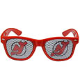 New Jersey Devils Game Day Shades - Officially licensed NHL New Jersey Devils game day shades are the perfect accessory for the devoted New Jersey Devils fan! The New Jersey Devils game day shades have durable polycarbonate frames with flex hinges for comfort and damage resistance. The lenses feature brightly colored New Jersey Devils clings that are perforated for visibility.