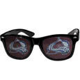 Colorado Avalanche Game Day Shades - Officially licensed NHL Colorado Avalanche game day shades are the perfect accessory for the devoted Colorado Avalanche fan! The Colorado Avalanche game day shades have durable polycarbonate frames with flex hinges for comfort and damage resistance. The lenses feature brightly colored Colorado Avalanche clings that are perforated for visibility.