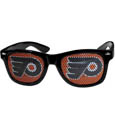 Philadelphia Flyers Game Day Shades - Officially licensed NHL Philadelphia Flyers game day shades are the perfect accessory for the devoted Philadelphia Flyers fan! The Philadelphia Flyers game day shades have durable polycarbonate frames with flex hinges for comfort and damage resistance. The lenses feature brightly colored Philadelphia Flyers clings that are perforated for visibility.
