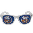 New York Islanders  Game Day Shades - Officially licensed NHL New York Islanders game day shades are the perfect accessory for the devoted New York Islanders fan! The New York Islanders game day sunglasses have durable polycarbonate frames with flex hinges for comfort and damage resistance. The lenses feature brightly colored New York Islanders clings that are perforated for visibility.