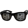 Los Angeles Kings Game Day Shades - Officially licensed NHL Los Angeles Kings game day shades are the perfect accessory for the devoted Los Angeles Kings fan! The Los Angeles Kings game day shades have durable polycarbonate frames with flex hinges for comfort and damage resistance. The lenses feature brightly colored Los Angeles Kings clings that are perforated for visibility.