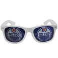 Edmonton Oilers Game Day Shades - Officially licensed NHL Edmonton Oilers game day shades are the perfect accessory for the devoted Edmonton Oilers fan! The Edmonton Oilers game day shades have durable polycarbonate frames with flex hinges for comfort and damage resistance. The lenses feature brightly colored Edmonton Oilers clings that are perforated for visibility.