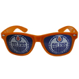 Edmonton Oilers  Game Day Shades - Officially licensed Edmonton Oilers game day shades are the perfect accessory for the devoted Edmonton Oilers fan! The Edmonton Oilers game day sunglasses have durable polycarbonate frames with flex hinges for comfort and damage resistance. The lenses feature brightly colored Edmonton Oilers clings that are perforated for visibility.