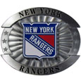 "New York Rangers Oversized Buckle - NHL New York Rangers Oversized Buckle is a carved metal buckle with enameled New York Rangers colors. Features fine detailing and distinctive background. The New York Rangers Oversized Buckle measure 4 x 3 3/8"". Thank you for visiting CrazedOutSports"