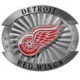 "Detroit Red Wings Oversized Buckle - NHL Detroit Red Wings oversized belt buckle is a carved metal buckle with enameled Detroit Red Wings colors. Features fine detailing and distinctive background. The Detroit Red Wings Oversized Buckle measure 4 x 3 3/8"". Thank you for visiting CrazedOutSports"