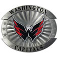 "Washington Capitals Oversized Buckle - NHL Washington Capitals oversized belt buckle is a carved metal buckle with enameled Washington Capitals colors. Features fine detailing and distinctive background. The Washington Capitals Oversized Buckle measure 4 x 3 3/8"". Thank you for visiting CrazedOutSports"