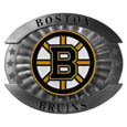 "Boston Bruins Oversized Buckle - NHL Boston Bruins oversized belt buckle is a carved metal buckle with enameled Boston Bruins colors. Features fine detailing and distinctive background. The Boston Bruins Oversized Buckle measure 4 x 3 3/8"". Thank you for visiting CrazedOutSports"