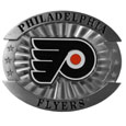 "Philadelphia Flyers Oversized Buckle - NHL Philadelphia Flyers oversized belt buckle is a carved metal buckle with enameled Philadelphia Flyers colors. Features fine detailing and distinctive background. ThePhiladelphia Flyers oversized belt buckle measures 4 x 3 3/8""."