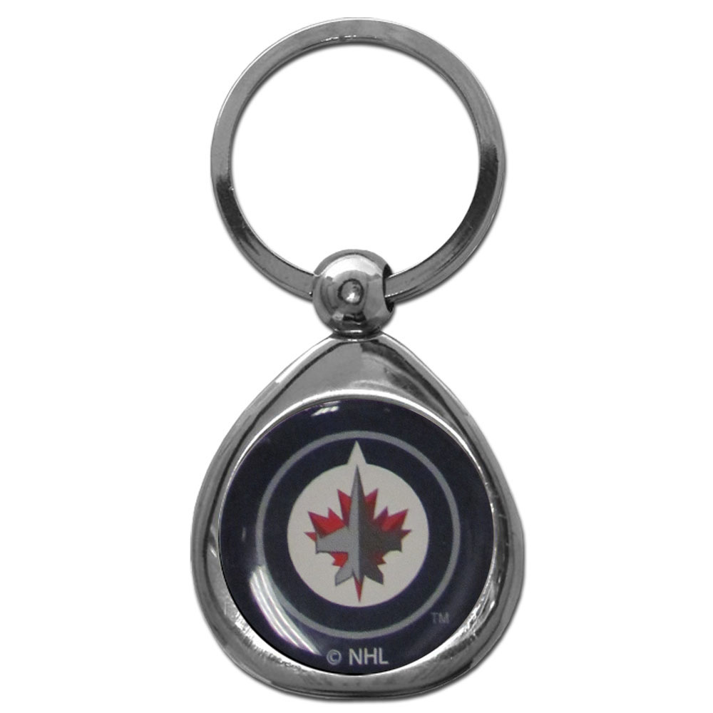 Winnipeg Jets™ Chrome Key Chain - Our stylish, high-polish Winnipeg Jets™ key chain is a great way to carry your team with your. The key fob features a raised team dome.