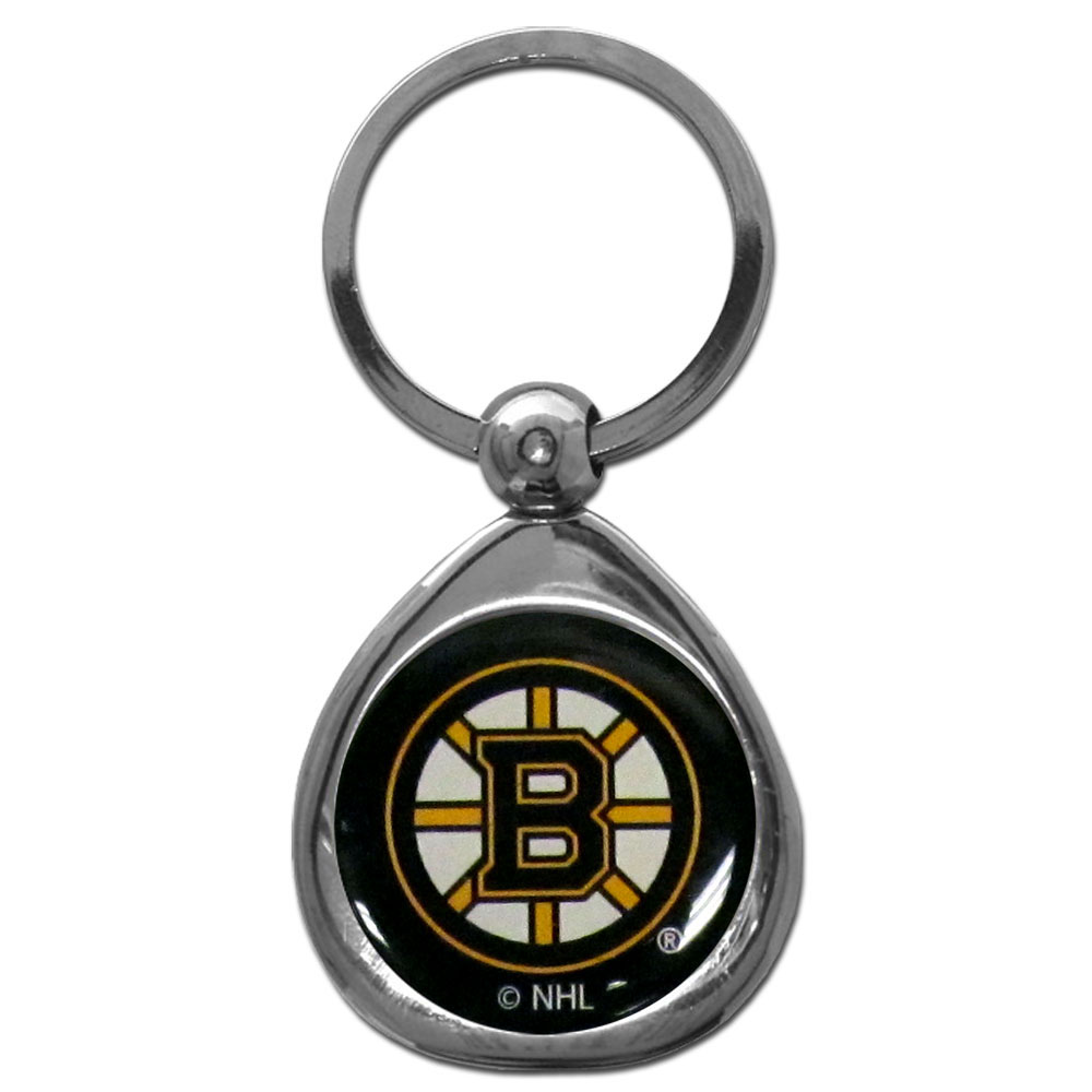 Boston Bruins® Chrome Key Chain - Our stylish, high-polish Boston Bruins® key chain is a great way to carry your team with your. The key fob features a raised team dome.