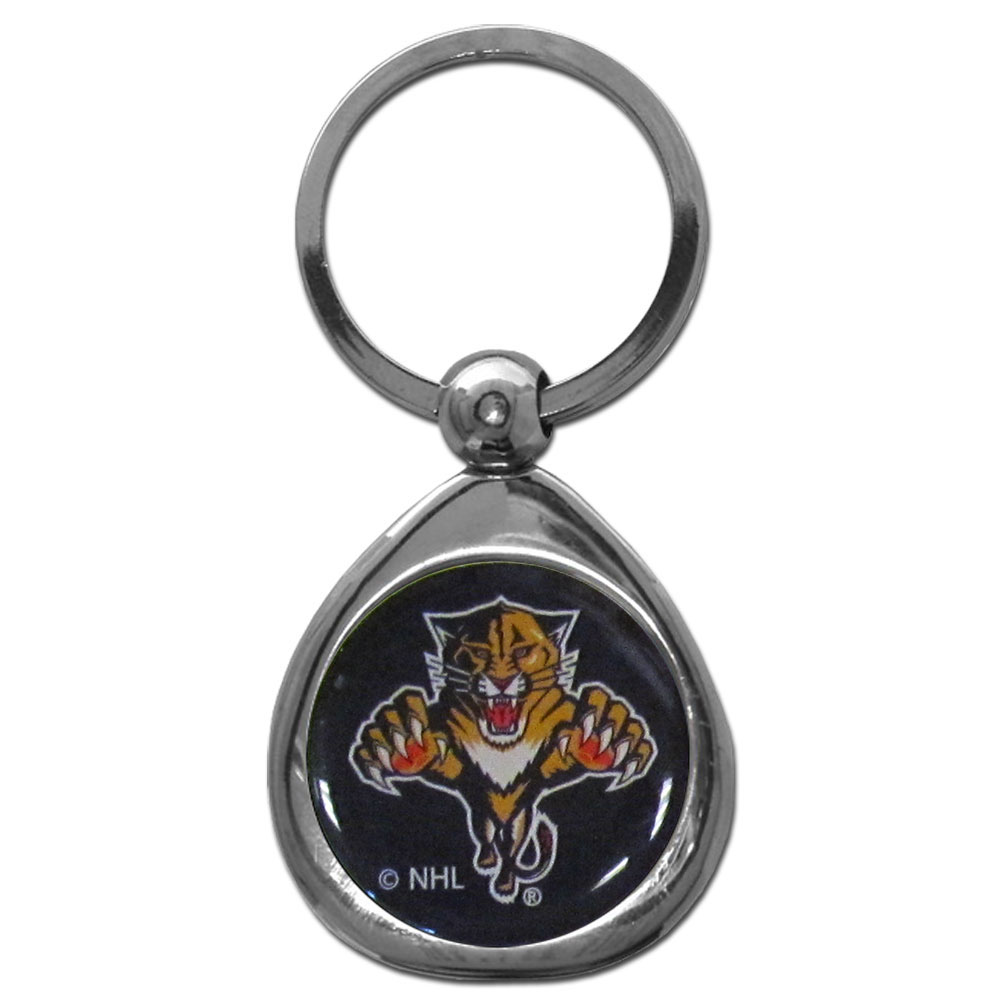 Florida Panthers® Chrome Key Chain - Our stylish, high-polish Florida Panthers® key chain is a great way to carry your team with your. The key fob features a raised team dome.