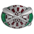 Darts and Board Enameled Belt Buckle
