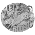 Belt Buckle -Let's Rodeo Antiqued Belt Buckle