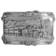 Steam Locomotive  Antiqued Belt Buckle