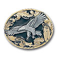 Eagle with Feathers Vivatone Belt Buckle
