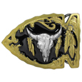 Buffalo Skull Vivatone Belt Buckle