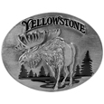 Yellowstone Moose  Enameled Belt Buckle