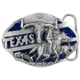 Texas Longhorn Enameled Belt Buckle