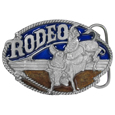 Rodeo Bull Rider Enameled Belt Buckle