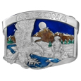 Arizona Eagle Enameled Belt Buckle