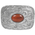 Pink Stone with Western Scroll Rhinestone Belt Buckle