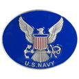 US Navy Enameled Belt Buckle