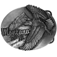 Montana Eagle Antiqued Belt Buckle