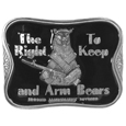 The Right To Keep and Arm Bears Enameled Belt Buckle