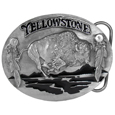 Yellowstone Bison Enameled Belt Buckle
