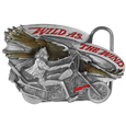 Wild as the Wind  Enameled Belt Buckle