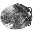 Alaska Eagle Antiqued Belt Buckle